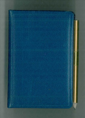 Agenda Bigiornaliera 2016-6x9cm-tascabile c/matita-col. blu cina
