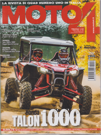 Moto 4 + Motoslitte - n. 156 - bimestrale - gennaio - febbraio 2019 - 2 riviste