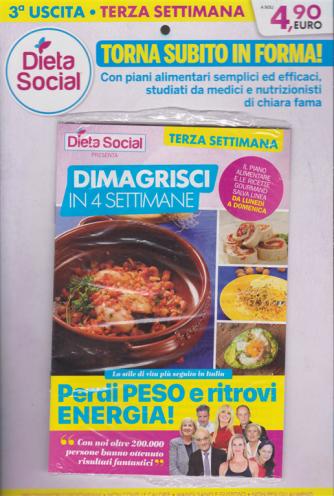 Dieta social - Dimagrisci in quattro settimane - n. 3 - settimanale - 11/1/2019 - terza settimana
