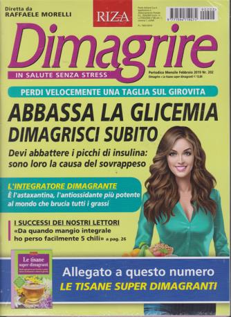 Dimagrire + Le tisane superdimagranti - n. 202 - mensile - febbraio 2019 - rivista + libro