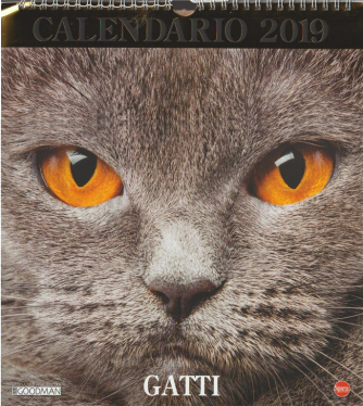 Calendario Gatti 2019 by Lisa Goodman - cm. 27 x 30 con spirale