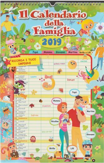 Il calendario della famiglia 2019 - cm. 29 x 45 con spirale