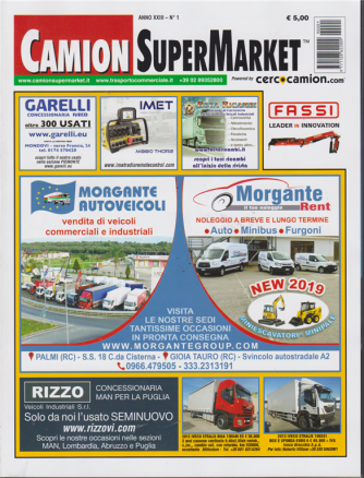 Camion Super Market- n. 1 - 23 gennaio 2019
