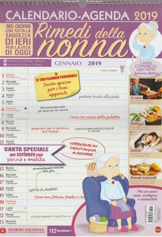 Calendario Agenda 2019 - Rimedi della Nonna -  cm. 30  x 43 con spirale