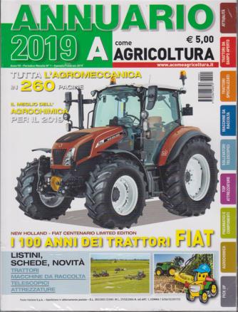 Annuario 2019 - A come Agricoltura - n. 1 - gennaio - febbraio 2019