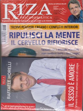 Riza psicosomatica + il libro di  Raffaele Morelli - Il sesso è amore - n. 456 - febbraio 2019 - mensile