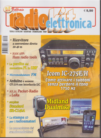 Radiokit Elettronica - n. 2 - febbraio 2019 - mensile
