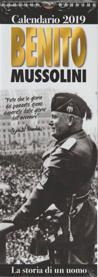 """Calendario 2019 """"Benito Mussolini"""" cm.25x41 con spirale"""