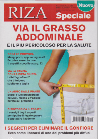 Riza Speciale -Via il grasso addominale - n. 14 - bimestrale - ottobre - novembre 2019 -