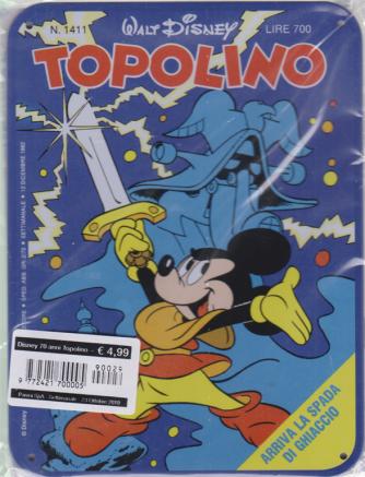 Disney 70 Anni Topolino - Topolino E La Spada di ghiaccio - n. 29 - settimanale - 23 ottobre 2019 - targa in metallo n. 1411