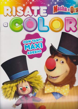 Sticker&Color Risate a colori Masha e Orso - bimestrale - gennaio - febbraio 2019
