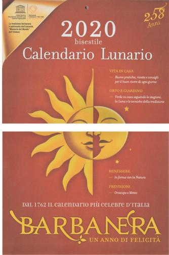 """Calendario bisestile 2020 """"BARBANERA"""" - cm. 28 x 45 - 258 anni"""