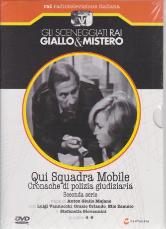 Gli sceneggiati rai Giallo & Mistero - Qui Squadra Mobile Cronache di polizia giudiziaria - seconda serie puntate 4-6 - settimanale - 26/10/2019