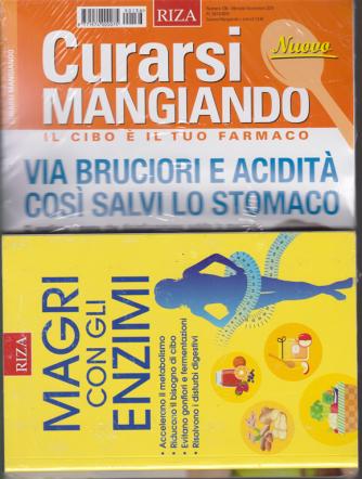 Curarsi Mangiando - n. 36 - mensile - novembre 2019 + il libro Magri con gli enzimi - rivista + libro