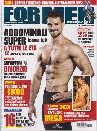 For Men Magazine - n. 201 - novembre 2019 - mensile