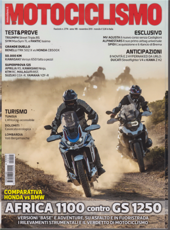 Motociclismo - n. 11 - novembre 2019 - mensile