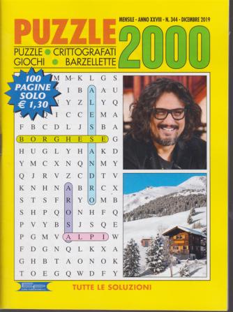 Puzzle 2000 - n. 344 - mensile - dicembre 2019 - 100 pagine