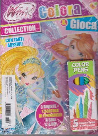 Colora Con Winx Club - n. 75 - 5/11/2019 - bimestrale + 5 pennarelli lavabili in colori assortiti