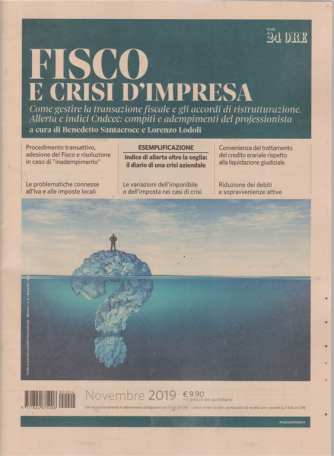 Fisco e crisi d'impresa - n. 4 - novembre 2019 - mensile