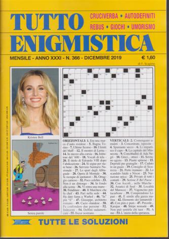 Tutto Enigmistica - n. 366 - mensile - dicembre 2019 -
