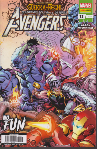 Avengers -n. 117 - mensile - 14 novembre 2019 - No fun