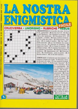 La Nostra Enigmistica facile - n. 83 - trimestrale - dicembre - febbraio 2020