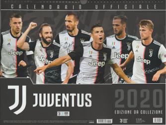 Calendario uffuciale Juventus 2020 in orizzontale cm. 44 x 33 c/spirale