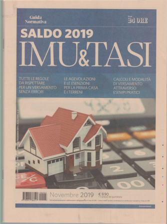 Guida Operativa - Saldo Imu & Tasi 2019 - novembre 2019 - n. 3