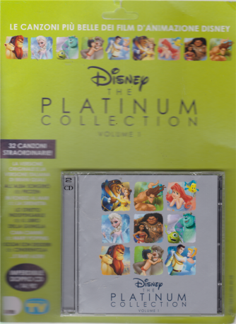 Cd Sorrisi Speciale - Disney the Platinum collection volume 1 - doppio cd - n. 9 - settimanale - 12/3/2019 -