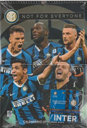 Calendario ufficiale Inter 2020 - cm. 29 x 42 c/spirale con braccialetti