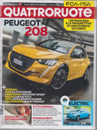 Quattroruote - n. 772 - dicembre 2019 - mensile + Quattroruote Fleet & business special edition - 2 riviste
