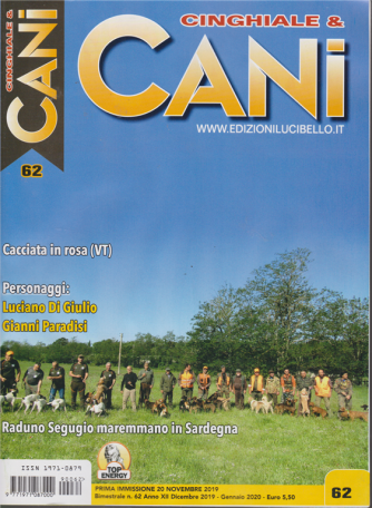 Cinghiale & Cani - n. 62 - bimestrale - dicembre 2019 - gennaio 2020