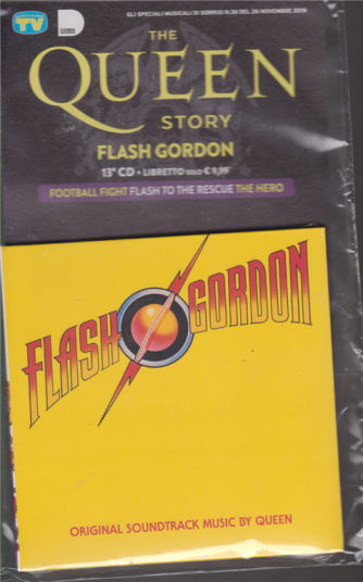 Gli speciali di Sorrisi n. 36 - 26 novembre 2019 - The Queen story - Flash Gordon - 13° cd + libretto -