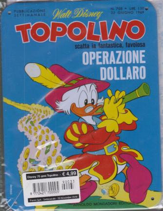 Disney 70 Anni Topolino - Cover Per Il 70Esimo - n. 33 - settimanale - 20 novembre 2019 -
