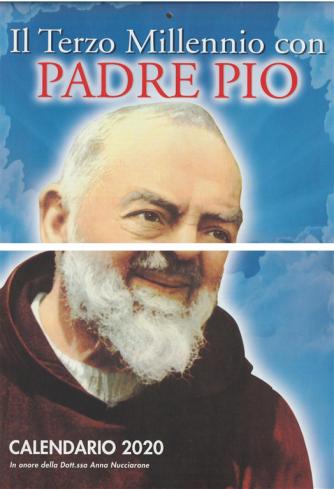 Calendario 2020 Il Terzo Millennio con Padre Pio - cm. 29 x 44
