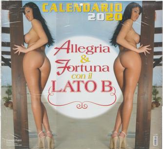 """Calendario 2020 """"Allegria & fortuna con il lato B - cm. 32 x 30"""