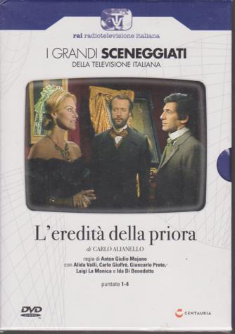 I grandi sceneggiati della televisione italiana - L'eredità della priora di Anton Giulio Majano - puntate 1-4 - n. 89 - settimanale - 28/11/2019