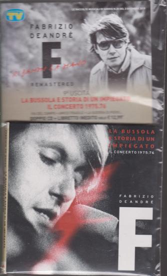Le raccolte musicali di Sorrisi n. 20 - 3 dicembre 2019 - Fabrizio De Andrè - nona uscita - La bussola e storia di un impiegato - Il concerto 1975-76 - doppio cd + libretto inedito
