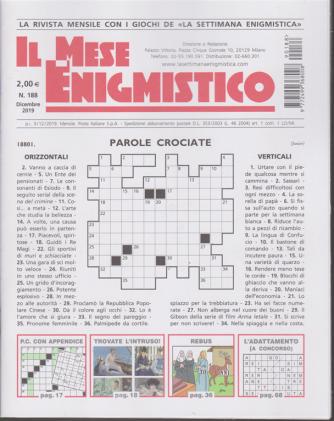 Il Mese Enigmistico - n. 188 - dicembre 2019 - mensile