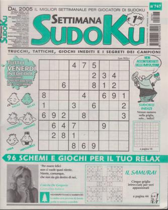 Settimana Sudoku - n. 747 - settimanale - 8 dicembre 2019