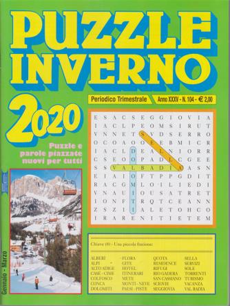 Puzzle inverno 2020 - trimestrale - n. 104 - gennaio - marzo 2020