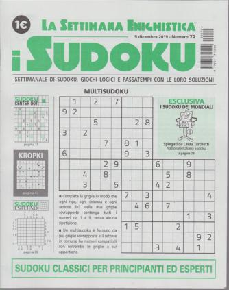 La settimana enigmistica - i sudoku - n. 72 - 5 dicembre 2019 - settimanale