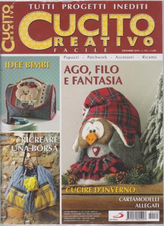 Cucito Creativo facile - n. 135 - dicembre 2019 - mensile