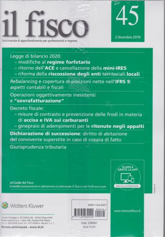 Il Fisco - n. 45 - 2 dicembre 2019 - settimanale - 2 riviste