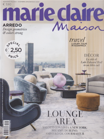 Marie Claire Maison - n. 1 - dicembre 2019 - gennaio 2020 - mensile