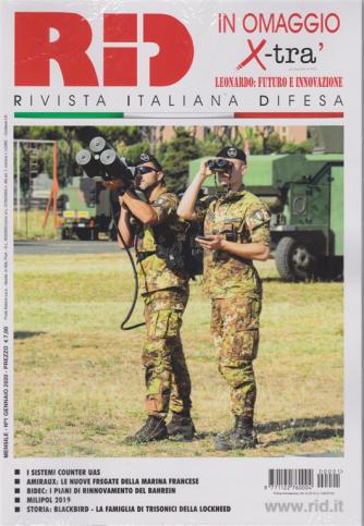 RID rivista italiana difesa - mensile n. 1 Gennaio 2020 + X-TRA' in omaggio