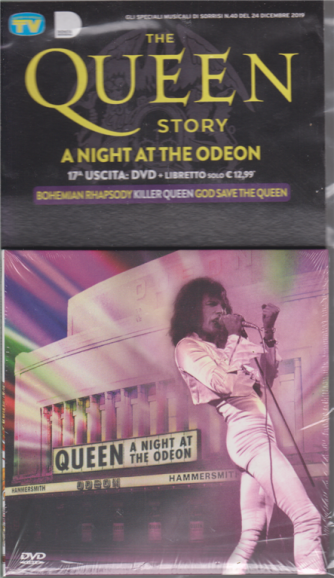 Gli speciali musicali di Sorrisi - n. 40 - 24 dicembre 2019 - The Queen story - A night at the odeon - Diciassettesima uscita - dvd + libretto