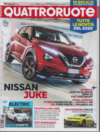 Quattroruote + QNovità 2020 - n.  773 - gennaio 2020 - mensile - 2 riviste