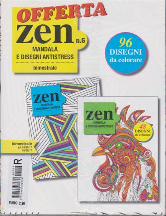 Offerta Zen n. 6 bimestrale - Mandala e disegni antistress - 2 riviste