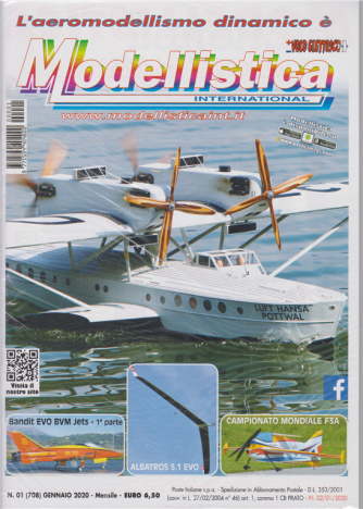 L'aeromodellismo dinamico è Modellistica international - n. 1 - gennaio 2020 - mensile -